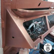 metal-coating interno abitacolo rivestito in rame
