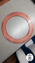 particolare reggi rullante brian collier rotodrum grafica in rilievo con rivestimento rame