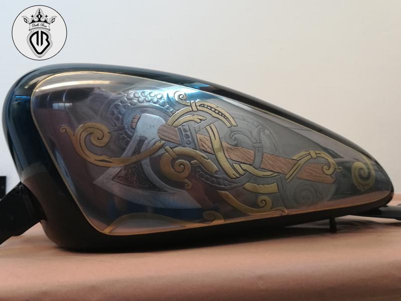 serbatoio Harley Davidson metal coating