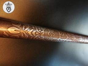 METAL-COATING-DALLA-BONA-Stecca da biliardo con rilievi in bronzo (249)