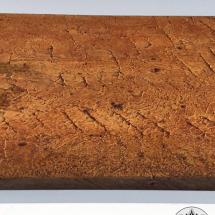 METAL-COATING-DALLA-BONA-Campione in legno rivestito in ferro materico ossidato (262)
